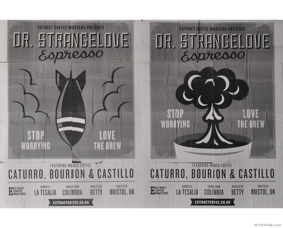 ... while Dr Strangelove is another single-origin espresso, perhaps its most iconic.