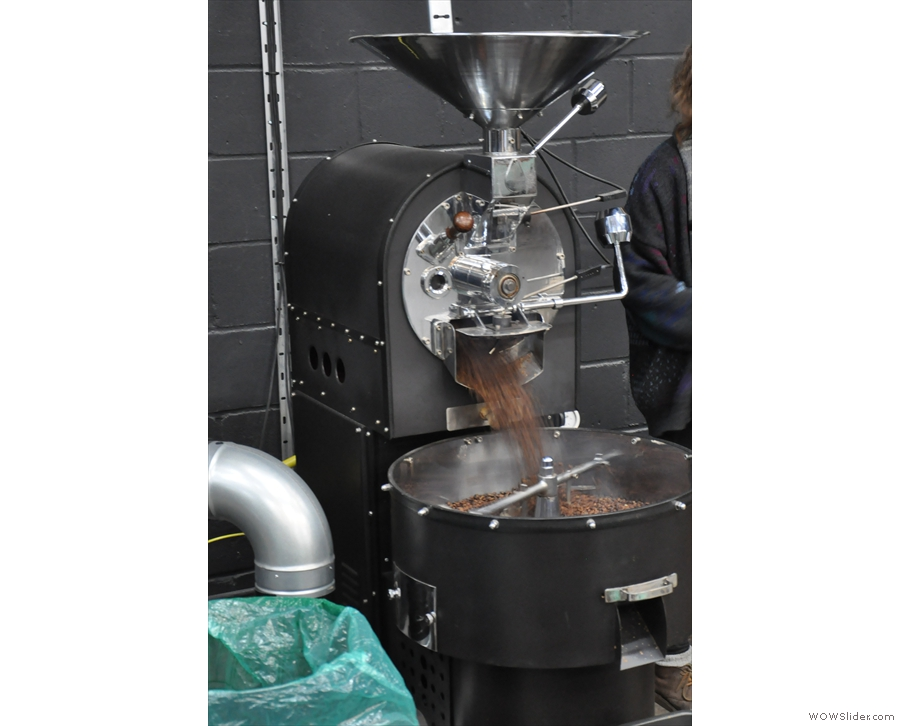 He's the only one who was in action while I was there, roasting small single-origin batches.