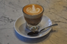 Finally, I rounded things off with a decaf cortado. In a glass.