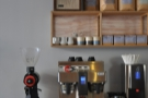 ... while there's another EK-43 for the bulk-brew filter coffee behind the counter.