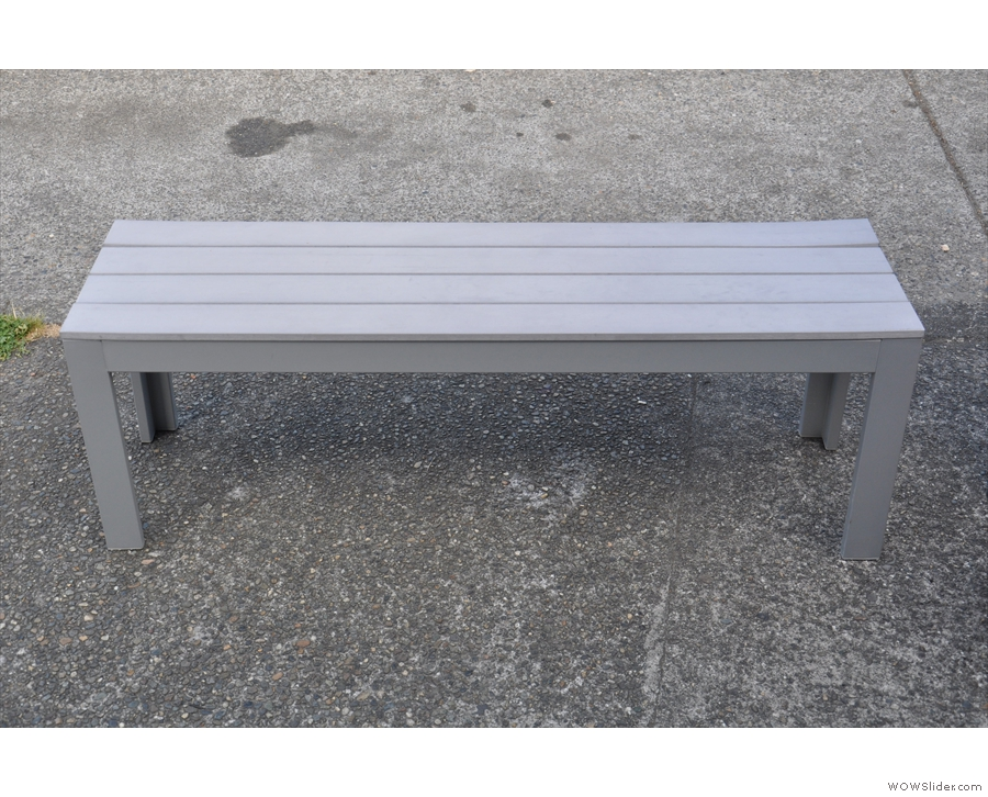 One of the benches.