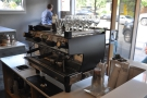 Alternatively, if you sit at the left-hand end, you get this view of the espresso machine.