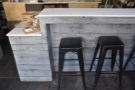 ... and there are also more bar stools at the right-hand end of the counter.