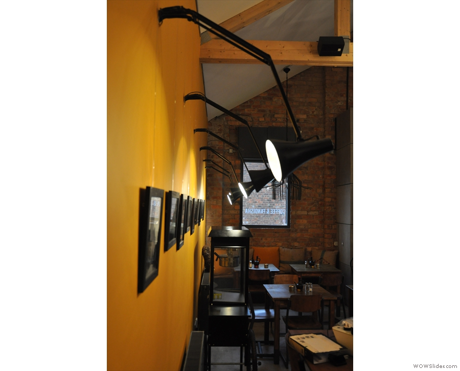More lighting comes in the shape of angle-poise lamps along the right-hand wall...