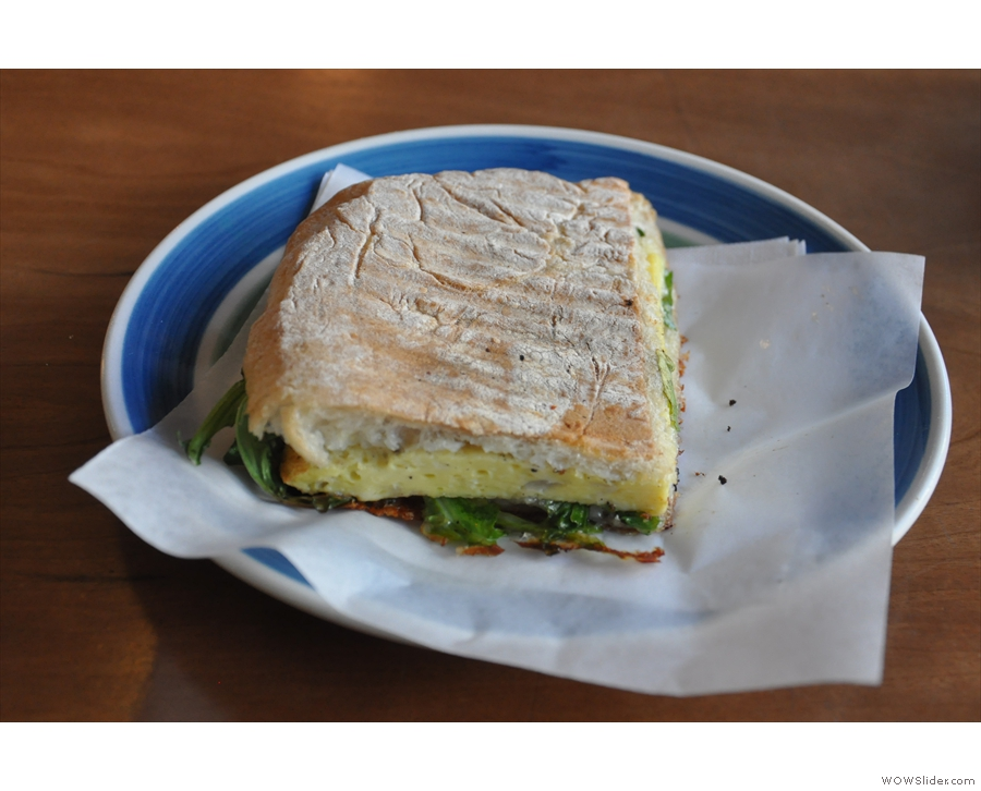 Victrola also does food (uncommon for American coffee shops). I had this lovely sandwich...