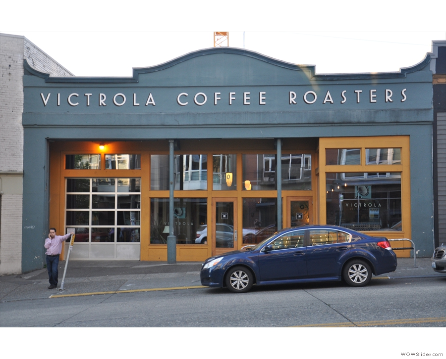 Victrola Coffee Roasters' roastery & cafe on Seattle's East Pike Street.