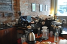 The coffee-end of the counter...