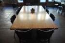 Right in the middle is this lovely communal table.