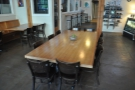 Another view of the communal table, looking towards the roastery.