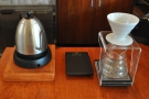 ... along with the V60 set-up.