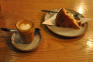 ... from which I selected the orange and cranberry cake to go with my cortado.