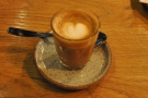 My cortado, in a glass, which is how I like it...