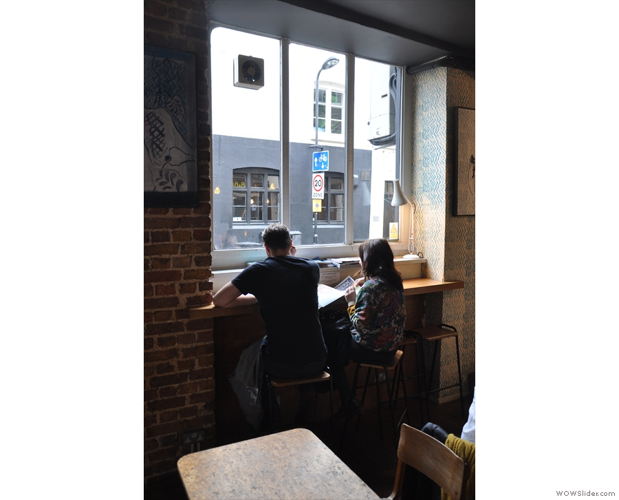 There's another four-person window-bar further along the Rivington Street side.