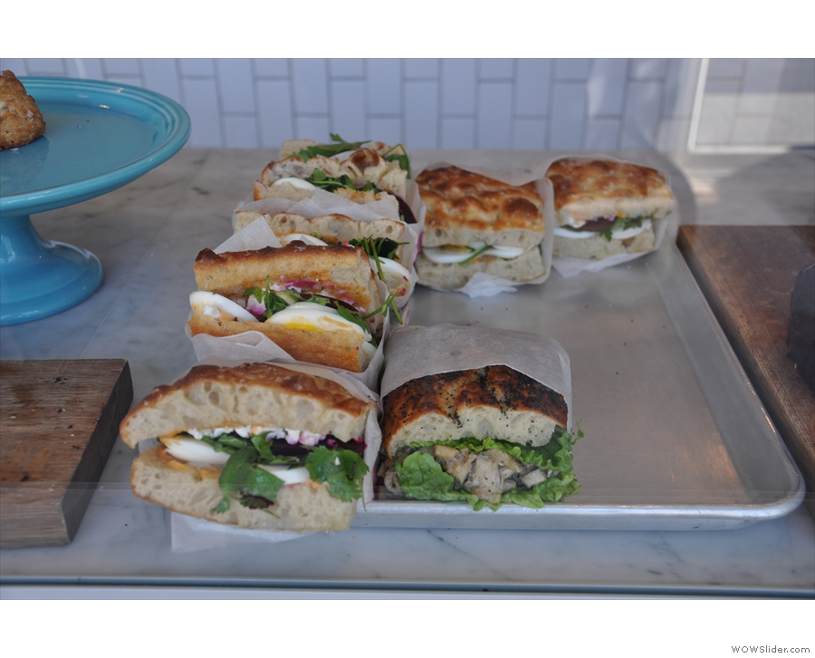 ... while there are also sandwiches (which, of course, are also savoury options).