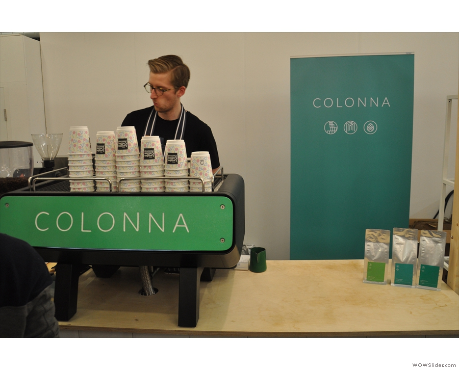 Downstairs in the new House of Coffee area was Colonna Coffee...