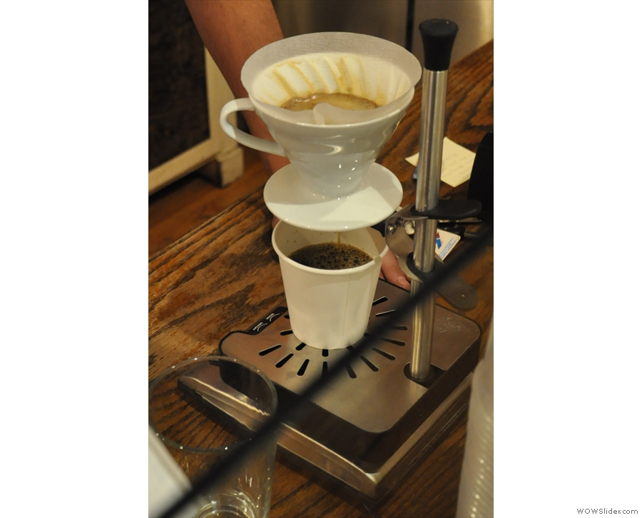 ... which was followed up by a V60 of the Sumatran single-origin, on the house.