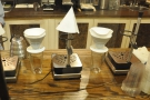 ... and V60s with their neat stands. There's also an aeropress or two around somewhere.