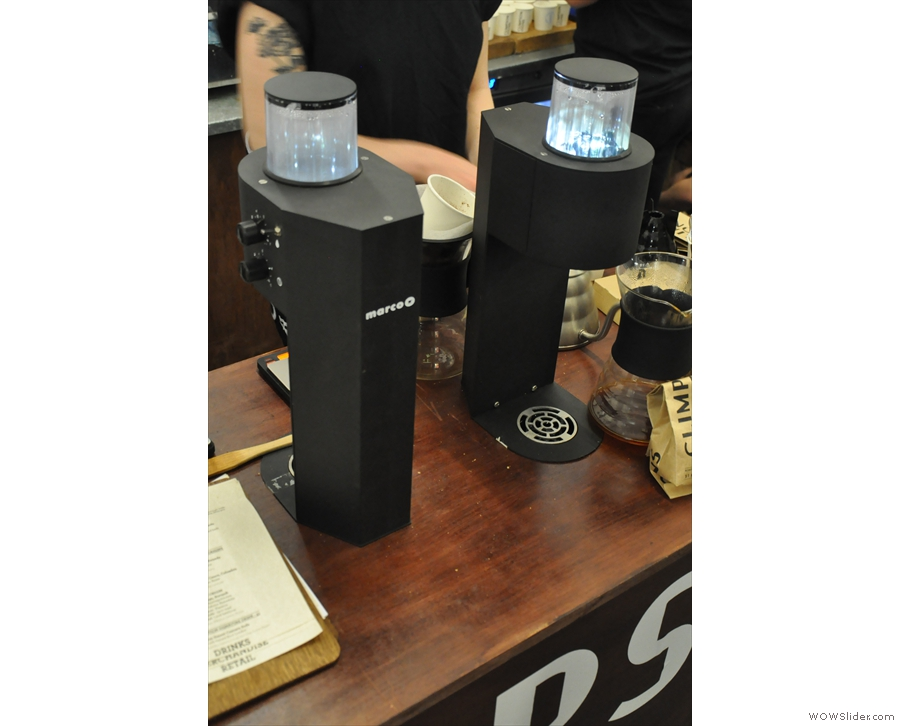 Instead I was drawn to these strange, black beasties: the Marco Beverage Systems SP9.