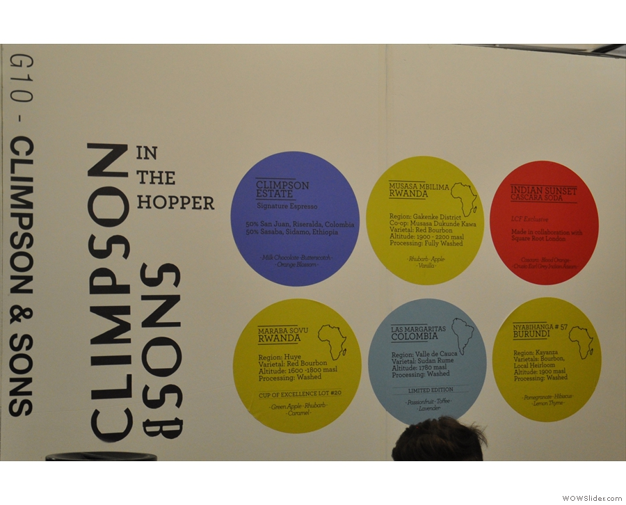 There are many reasons to visit Climpson & Sons, including to sample the excellent coffee.