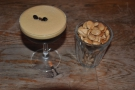 Talking of espresso: one of Grind's trademark espresso martinis and some toasted almonds.