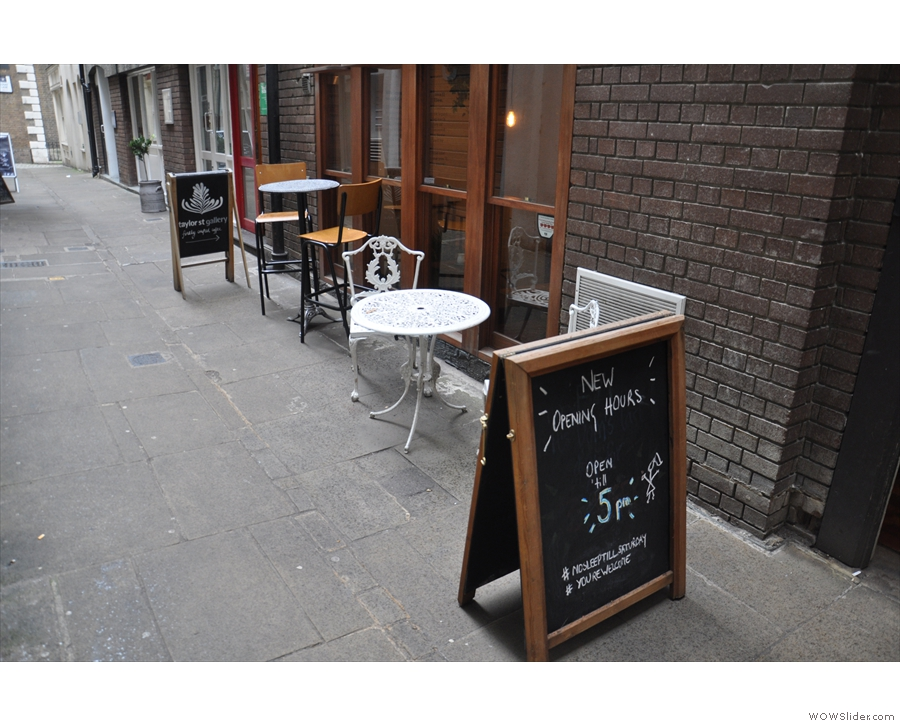 ... Taylor Street Gallery, perhaps the smallest of London's (sit-in) Taylor Street Baristas chain.