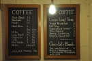 The concise coffee menu also hides an impressive coffee range.