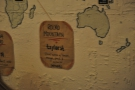 Each coffee is a single-origin, with its location marked on the map, along with tasting notes.