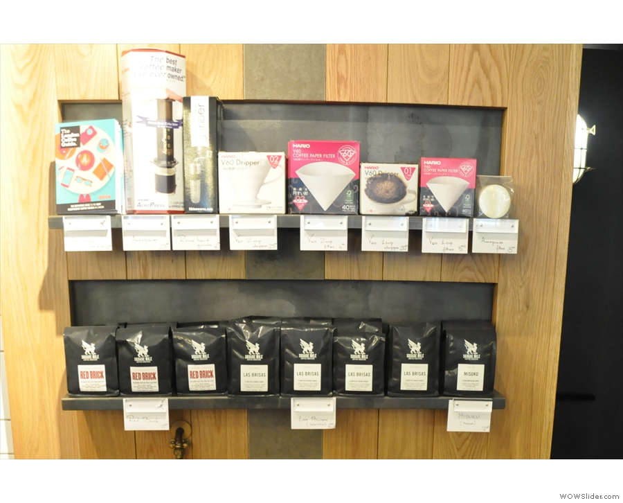 ... where you can buy, among other things, bags of coffee and some coffee-related kit.