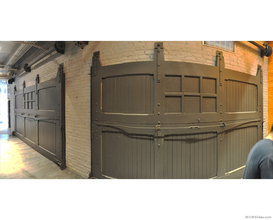 These fold-up doors (seen here from behind) gave access to the loading bay.