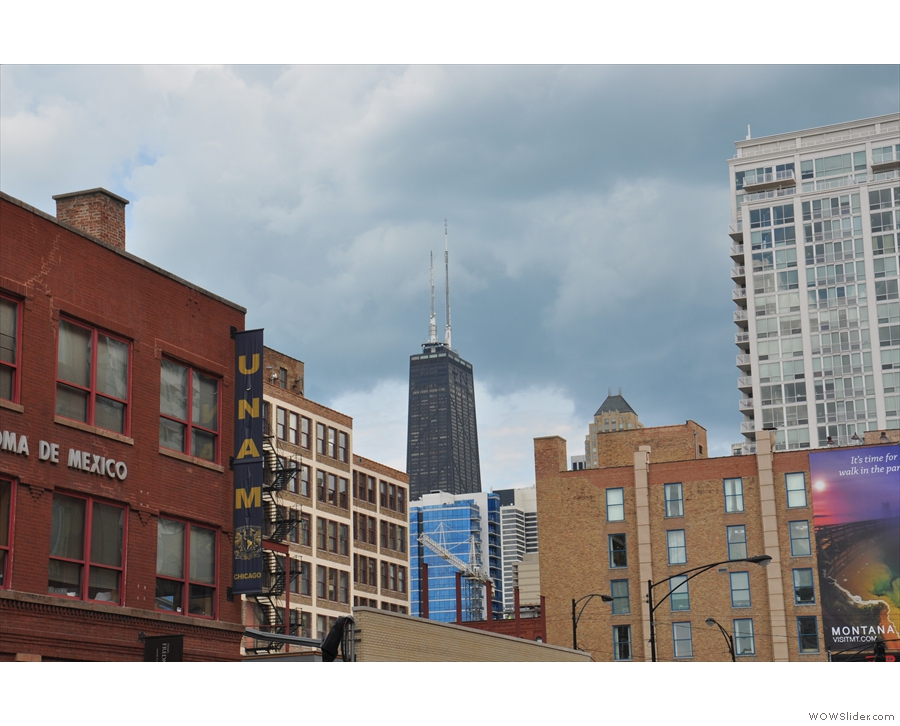 No River North gallery would be complete without a picture of the Hancock Tower!