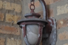 ... and the odd, reclaimed coaching lamp...