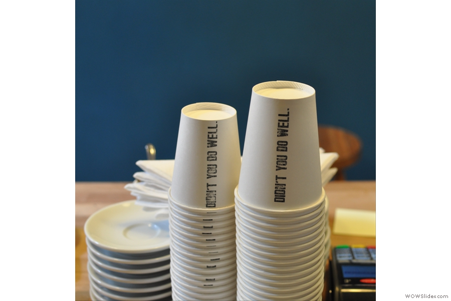 I have no idea why a pile of cups with 'Didn't You Do Well' stamped on the side should please me so much, but it did.