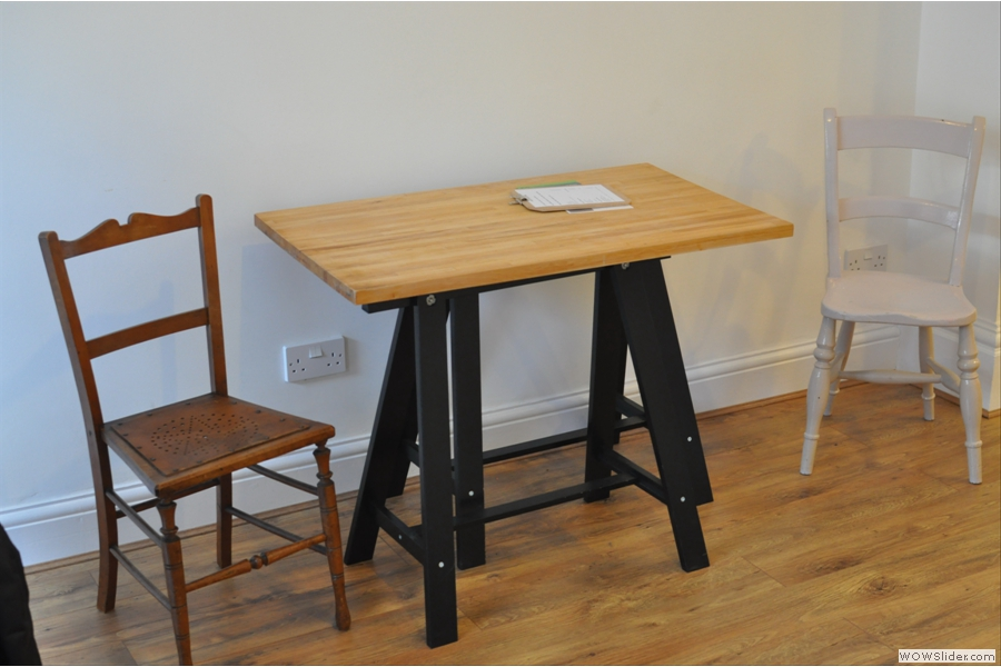 ... and this is one of the two trestle tables.