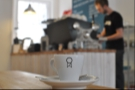 One day I will get the hang of depth of field... Here my espresso watches Will at work, albeit it in an out-of-focus kind of way...