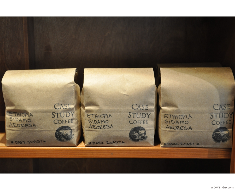 There's so much to choose from: this Ethiopia Sidamo Aroresa (dark roast) for example...