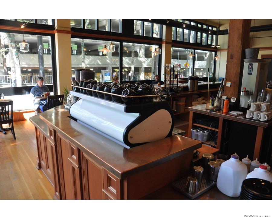 First comes the La Marzocco Strada Espresso machine...