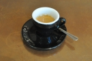 My espresso on its own. It was, by the way, amazing.