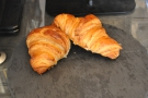 ... and there are even croissants (and brownies, but they were all gone) from a local baker.
