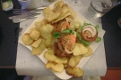 We did eat out too. This is fish and chips, Porto style!