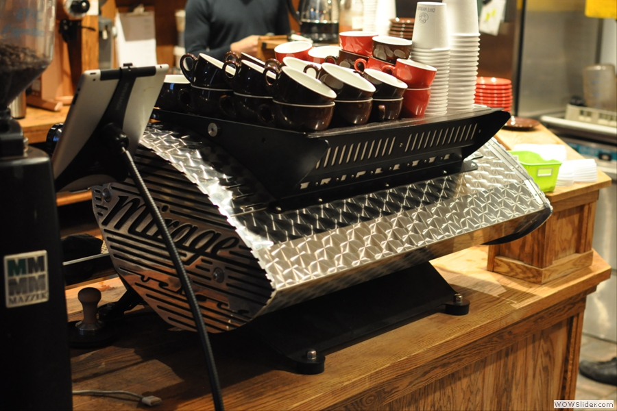 The Triplette espresso machine, a very sexy beast indeed!