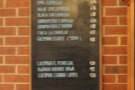 The coffee bean price list. Even though I messed up the photo I quite like the effect...