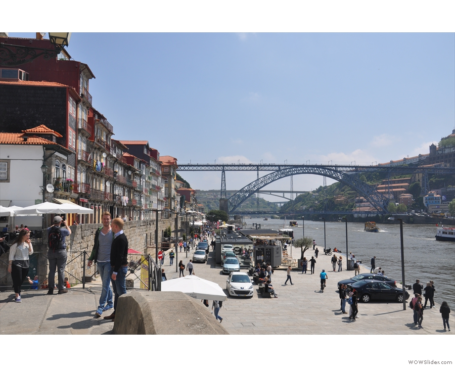 Porto and Vila Nova de Gaia are linked by the famous two-level bridge, Ponte Luis I.