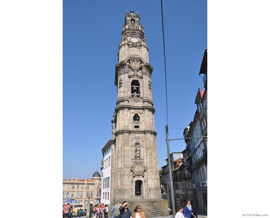 We were also near this amazing tower, Torre dos Clérigos, still one of Porto's highest points.