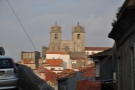 The building on the horizon is Porto 's 12th Century Cathedrall.