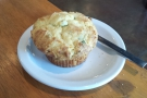 ... and a corn and gruyere muffin.