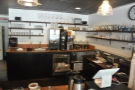 ... with hot water and grinders at the back of the spacious counter.