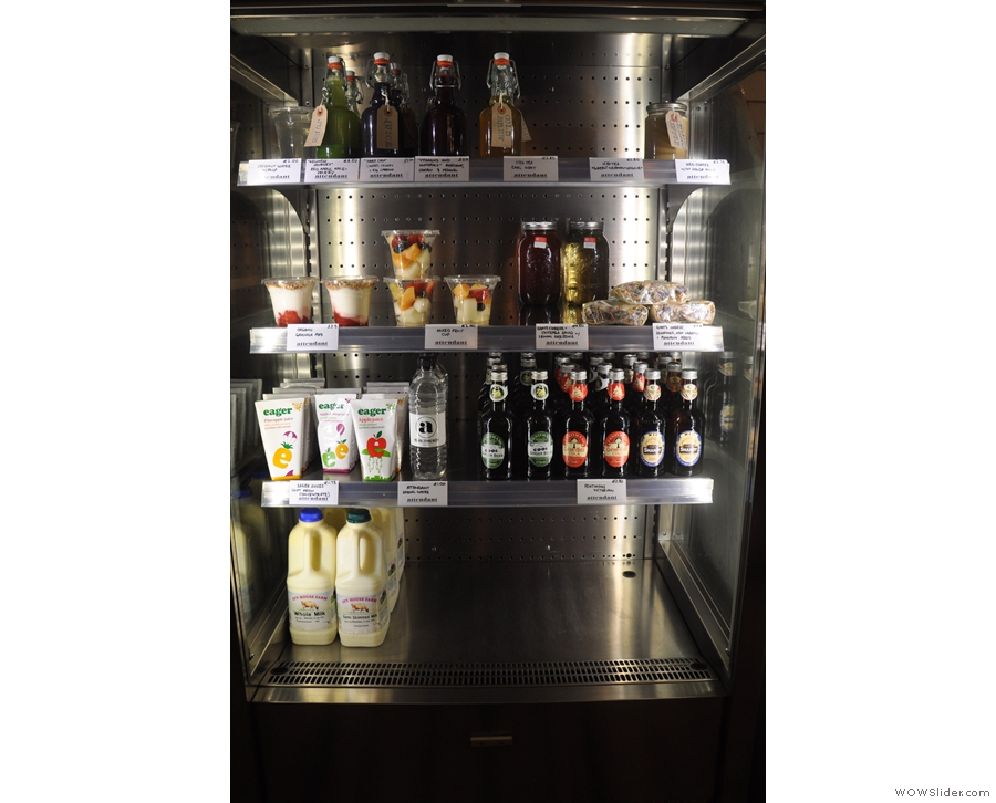 And a well-stocked fridge for those who don't want hot drinks.