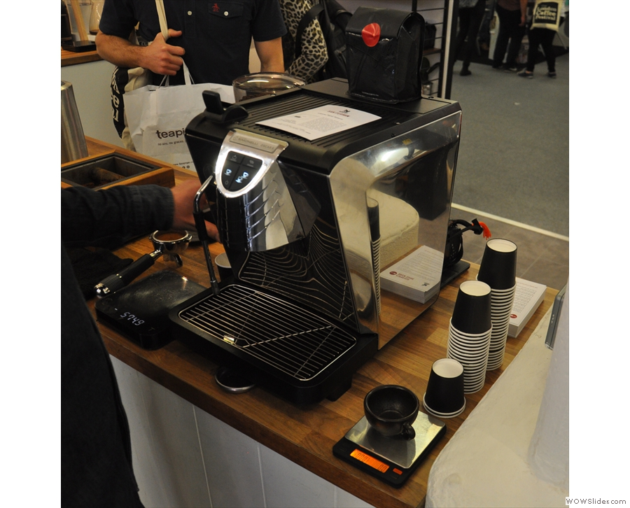 Square Mile was demonstrating the Nuova Simonelli Oscar II home espresso machine.