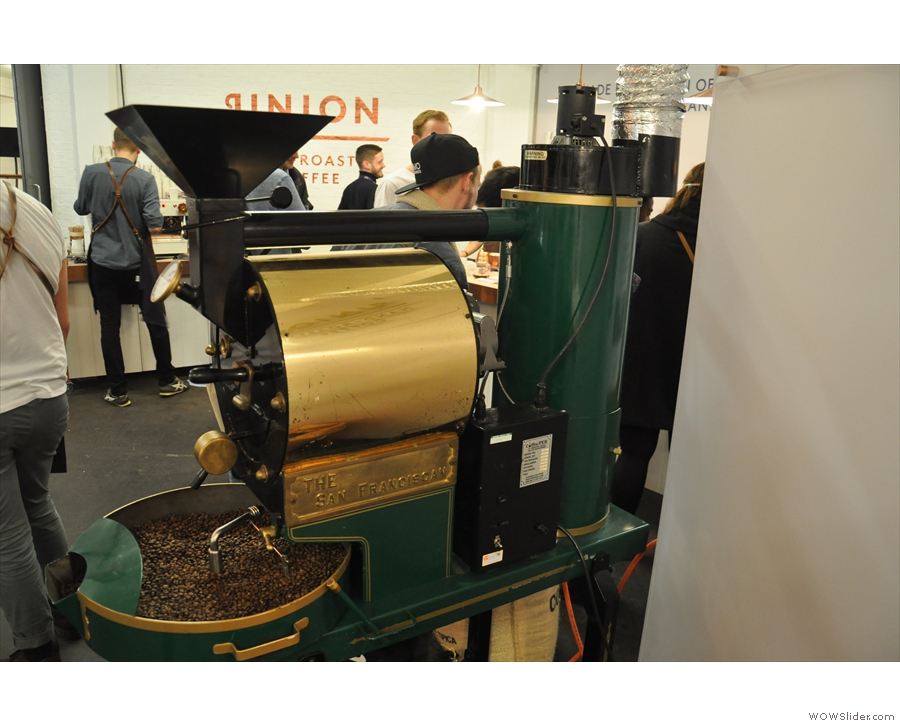 And, of course, no Union stand would be complete without the demonstration roaster.