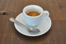 My Guatemalan single-origin espresso in a classic white cup.
